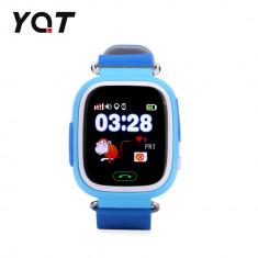 Ceas Smartwatch Pentru Copii YQT Q523 cu Functie Telefon, Localizare GPS, Pedometru, SOS - Bleu, Cartela SIM Cadou