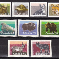 Canada 1988/89/90  fauna  MI 1102-1108/1118-1120/1163-1165  MNH  w59
