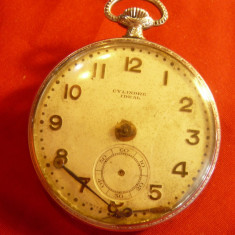 Ceas de Buzunar anii '20 - Cylindre Ideal - pt piese de schimb ,dim.=4,1cm
