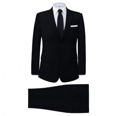 Costum bărbătesc 2 piese mărimea 46, negru foto