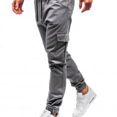 Pantaloni joggers cargo pentru bărbat gri Bolf 0404