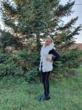 Cumpara ieftin Vesta blana sintetica Alba