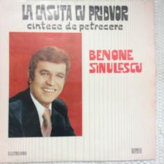 Benone sinulescu la casuta cu pridvor cantece de petrecere vinyl muzica populara, VINIL, electrecord