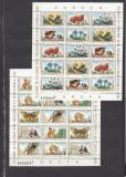 1983 LP 1084 a  FLORA SI FAUNA  REZERVATII NATURALE EUROPA PERECHE  BLOCURI  MNH