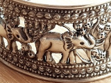 Bratara argint 925 reglabila lata  - elefant - elefanti - bijuterii vintage