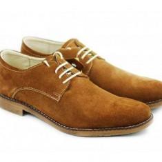 Pantofi barbati casual din piele naturala intoarsa - CARLO MD