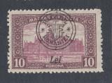 ROMANIA 1919 - EMISIUNEA CLUJ ORADEA  -  10 KORONA ORADEA MNH