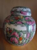Vaza/ urna portelan Japonia, cu capac, marcaj