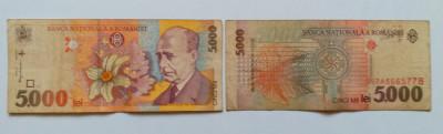 Bancnote vechi de colectie - 5.000 LEI - 1994 - Lucian Blaga foto