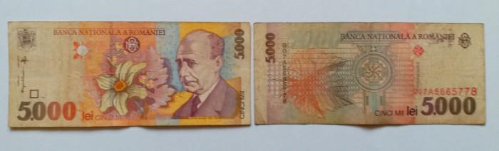 Bancnote vechi de colectie - 5.000 LEI - 1994 - Lucian Blaga