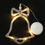 Decoratiune clopotel de Craciun, LED, 19 cm, pentru interior, Home