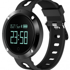 Bratara Fitness iUni DM58 Plus, Waterproof, Display OLED, Ceas, Pedometru, Monitorizare puls, Notificari, Negru