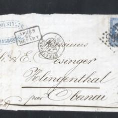 France 1866 Postal History Rare Front Cover 20 C NAPOLEON DB.244