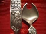 SET TACAMURI SALATA / PASTE DIN ZINC NORVEGIA DECOR VIKINGI