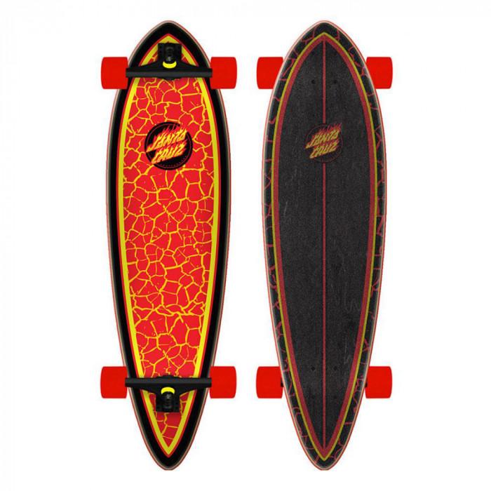 Longboard Santa Cruz Flame Dot Pintail