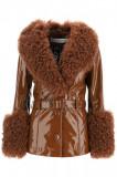 Cumpara ieftin Geaca de blana dama Saks potts shorty jacket in shiny leather SHORTY SHEARLING 11015 WNGLS Maro