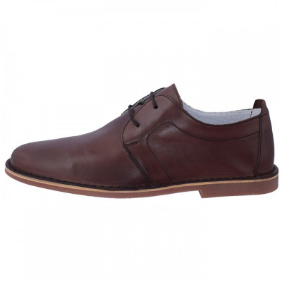 Pantofi barbati, din piele naturala, marca Marco Santini, A10K6028M-02-28, maro , marime: 43 foto