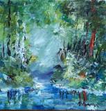 Tablou ulei (15/15 )-VARA, Flori, Impresionism