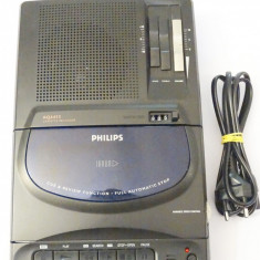 Casetofon recorder player cu difuzor Philips AQ6455 cu microfon caseta mare