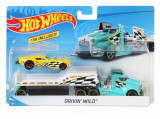Set camion si masina sport Hot Wheels Driving Wild, Mattel