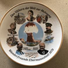 Set de 3 farfurii vechi germane,jubiliare ww2