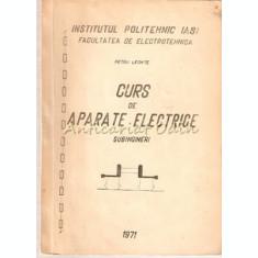 Curs De Aparate Electrice - Petru Leonte