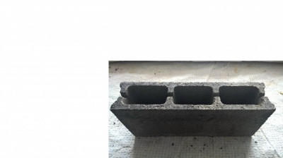 Boltari din beton pentru gard 40x12x20, boltari pentru gard foto