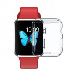 Husa silicon Apple Watch Seria 1, 38mm, carcasa protectie margini ceas, spigen