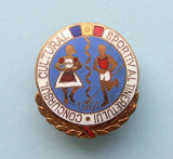 Insigna  -  CONCURSUL  CULTURAL  SPORTIV  AL  TINERETULUI  1961, Romania de la 1950