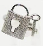 Inel argint placat cu aur alb cu zirconii