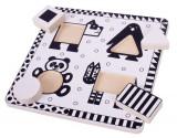 Puzzle alb-negru - animale si forme, Bigjigs