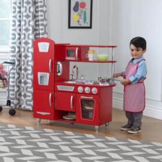 Bucatarie de jucarie Red Vintage Kidkraft, lemn, 3 ani+