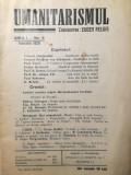 Rev. Umanitarismul, An I, Nr.6, Eugen Relgis, 1929, iudaica, pacifist, anarhist