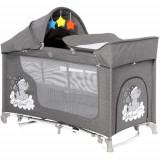 Patut Pliabil Moonlight Rocker Grey Luxe cu 2 Nivele si Accesorii, Colectia 2020