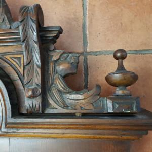 OGLINDA DE PERETE CU CRISTALUL ORIGINAL -stil -ALT DEUTSCH -AUSTRIA - sec .19