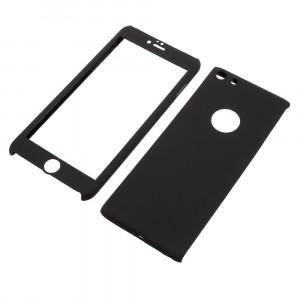 Husa Apple iPhone 6/6S Flippy Full Cover 360 Negru + Folie de protectie