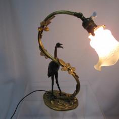 Lampa veche bronz dore functionala