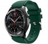 Curea ceas Smartwatch Samsung Gear S3, iUni 22 mm Silicon Green
