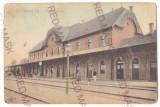 2809 - JIMBOLIA, Timis, Railway Station, Romania - old postcard - used - 1909