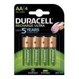Set 4 acumulatori HR6 Duracell, tip AA, 2500 mAh, 1.2 V