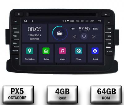 NAVIGATIE Dacia Renault, ANDROID 10, Octacore PX5 4GB RAM + 64GB ROM cu DVD, 7 Inch - AD-BGWDACIA7P5 foto