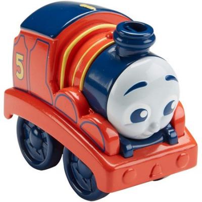 Locomotiva Fisher-Price Thomas si prietenii James cu tractiune foto