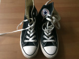 Converse all star chuck taylor tenisi culoare neagra 24 cm nr 37,5 unisex sport, 37.5, Negru, Textil