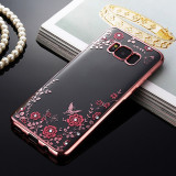 Husa Samsung Galaxy S8 Plus - Luxury Flowers Rose Gold
