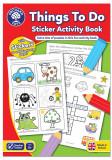 Carte de colorat cu activitati in limba engleza si abtibilduri Lucruri de Facut THINGS TO DO, orchard toys