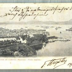 AD 664 C. P. VECHE -SOUVENIR DE COURFOU -PANORAME -FLOTTE ANGLAISE-1903?- BRAILA