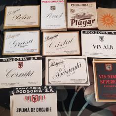 Lot etichete bauturi Podogoria (interbelic)