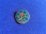 INSIGNA SPORTIVA SCHI - CUPA ZIARULUI STEAGUL ROSU - SPORT DE IARNA (albastra)