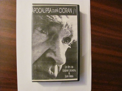 """GE - Caseta Video """"Apocalipsa dupa Cioran / 1"""" film de Liiceanu & Iliesiu 1995 foto"""