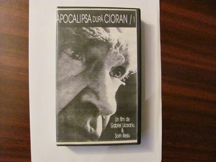 """GE - Caseta Video """"Apocalipsa dupa Cioran / 1"""" film de Liiceanu & Iliesiu 1995"""